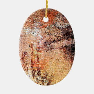 alter Vintager rostiger brauner Kunstbrand-Rauch Keramik Ornament