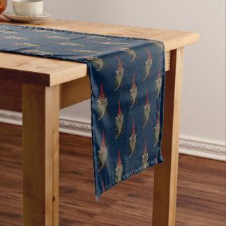 Alter Weihnachtsgnome-Muster-Tabellen-Läufer Kurzer Tischläufer