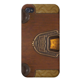 Alter Zeit-Radio-Telefon-Kasten iPhone 4/4S Cover