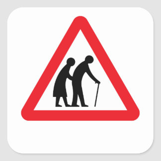 Ältere Menschen (1), Verkehrszeichen, Aufkleber