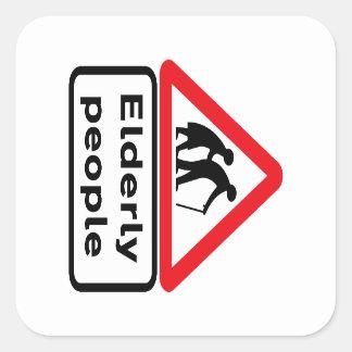 Ältere Menschen (2), Verkehrszeichen, Aufkleber