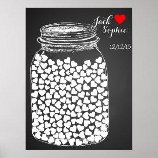 Alternative Hochzeitsgastbuch-Maurerkreide 150 Poster