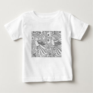 Altes abstraktes Textilnatur-Muster Baby T-shirt