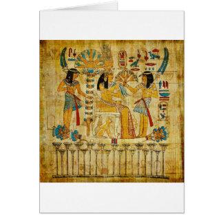 Altes Ägypten-Tapisserie-Rolle Heirogliphics Karte