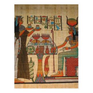 ALTES ÄGYPTEN-WAND-WANDGEMÄLDE POSTKARTE