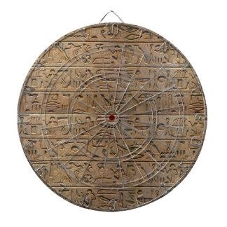 Altes ägyptisches Hieroglyphen-Designer-Geschenk Dartscheibe