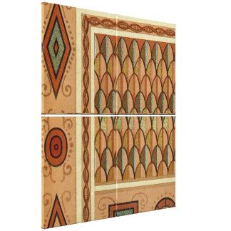 Altes ägyptisches Muster Leinwanddruck