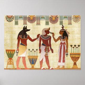 Altes ägyptisches Todesplakat Poster