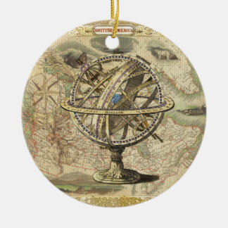 Altes britisches Amerika erforscht Keramik Ornament