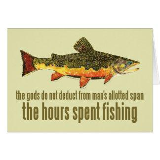 Altes Fischen-Sprichwort Grußkarte