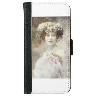 Altes Foto, Vintage Dame, Rosen Geldbeutel Hülle Für Das iPhone 6/6s