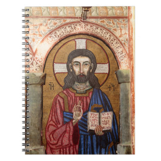 Altes Jesus-Mosaik Notizblock