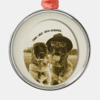 altes kangalpaar - oma und opa silbernes ornament