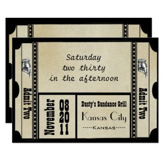 Altes Karten-Hochzeit UAWG Hollywood Broadway 8,9 X 12,7 Cm Einladungskarte