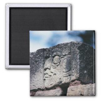 Altes Mayaruine-Foto entwarf Farbe Quadratischer Magnet