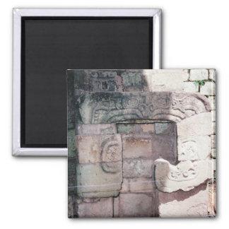 Altes Mayaruine-Foto entwarf Kühlschrank Quadratischer Magnet