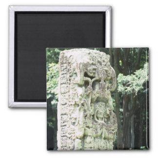 Altes Mayaruine-Foto entwarf Quadrat Quadratischer Magnet