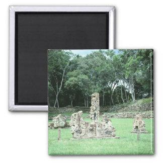 Altes Mayaruinen Copan N.W. Honduras Foto Quadratischer Magnet