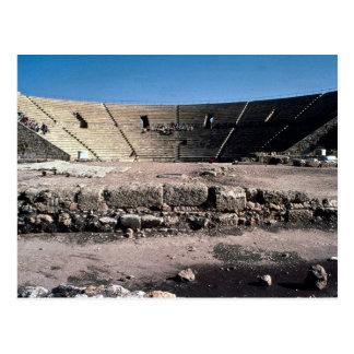 Altes römisches Amphitheater, Caesaria, Israel Postkarte