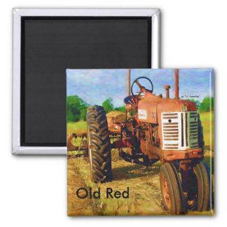 Altes Rot 1, altes Rot, durch T.L. Rosenthal Quadratischer Magnet