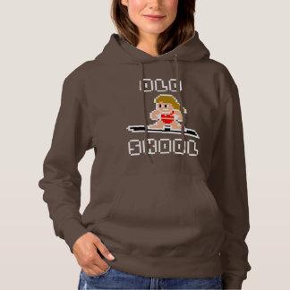 Altes surfendes Skool (blasse Frau, WEISS) Hoodie