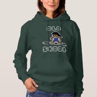 Altes surfendes Skool (gebräunte Frau, WEISS) Hoodie