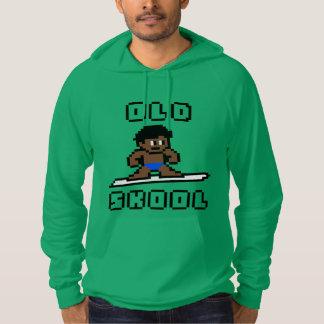 Altes surfendes Skool (gebräunter Mann, Schwarzes) Hoodie