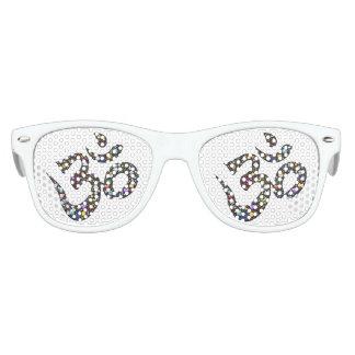 Altes Symbol scherzt die Party-Schatten, weiß Sonnenbrille
