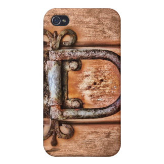 Altes Tür-Holz-Korn iPhone 4 Schutzhüllen