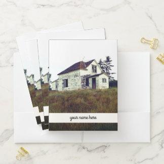 """Altes verlassenes Haus und '' Ihr Name hier """" Mappe"""