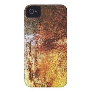 altes Vintages rostiges braunes Kunstbrand-Rauch iPhone 4 Hülle