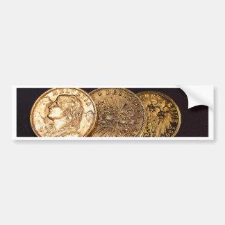 Altgold-Münzen Autoaufkleber