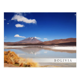 Altiplano Landschaft mit Vulkan in Bolivien Postkarte