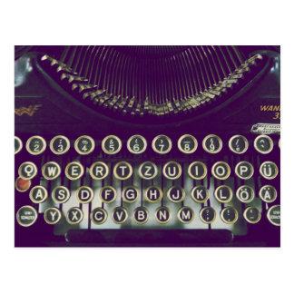 Altmodische Schreibmaschine Postkarten