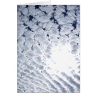 Altocumuluswolken und Sun Karte