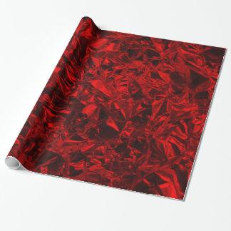 Aluminiumfolie-Entwurf im Rot Geschenkpapier