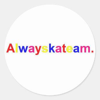 Alwayskateam Logo Mehrfarben Runder Aufkleber