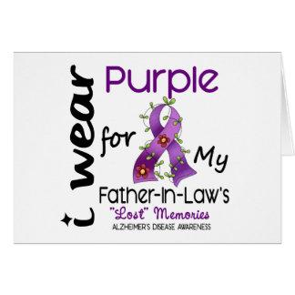 Alzheimers I Abnutzung lila für meinen Karte