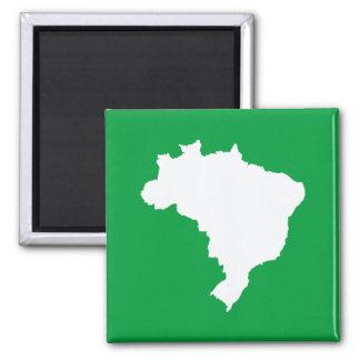Amazonisches grünes festliches Brasilien bei Quadratischer Magnet