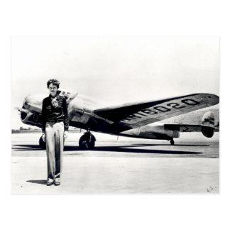 Amelia Earhart Postkarte