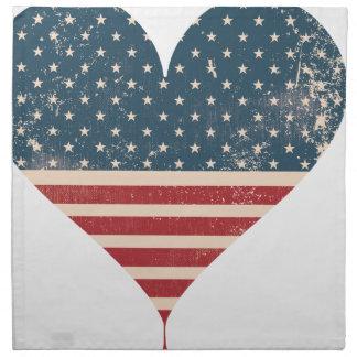 AMERICAN-HEART STOFFSERVIETTE