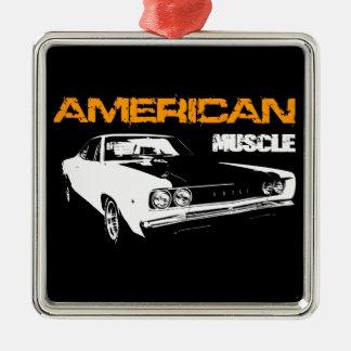 American Muscle - Mopar Dodge Coronet Super Bee Silbernes Ornament