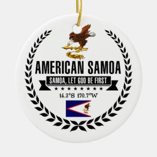 American Samoa Keramik Ornament