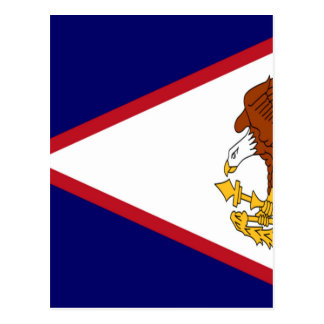American- Samoaflagge Postkarte