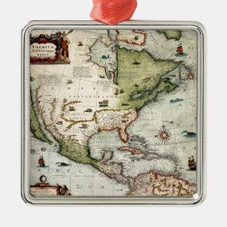 Amerika 1610 silbernes ornament