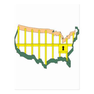 Amerika das Gefängnis Postkarte