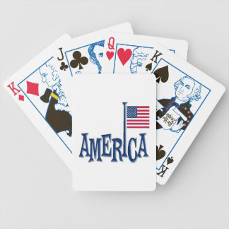 Amerika-Flaggen-Pole-Entwurf Poker Karten
