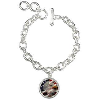 Amerikaner-Eagle-Flaggen-Charme-Armband Armband
