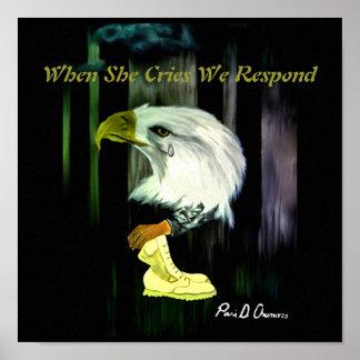 Amerikaner-Eagle-Schrei-Plakat Poster
