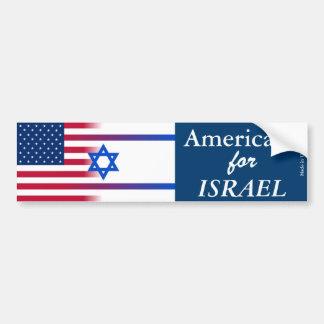 Amerikaner für ISRAEL-Autoaufkleber Autoaufkleber